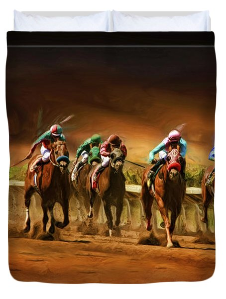 Horse's 7 At The End Duvet Cover