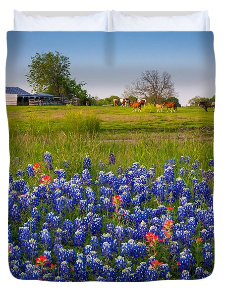 Horses Coming Home Duvet Cover