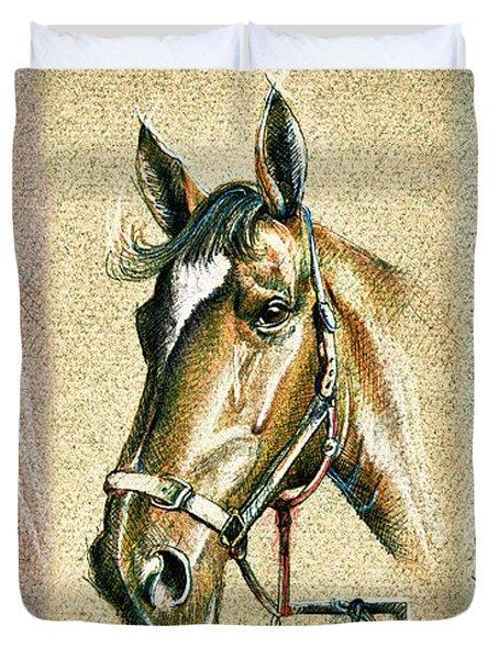 Horses Hand Drawing Duvet Cover
