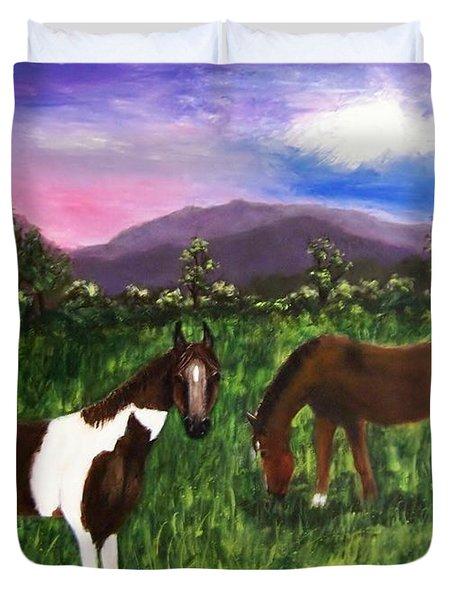 Horses Duvet Cover by Jamie Frier