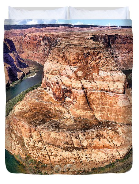 Horseshoe Bend In Arizona Duvet Cover