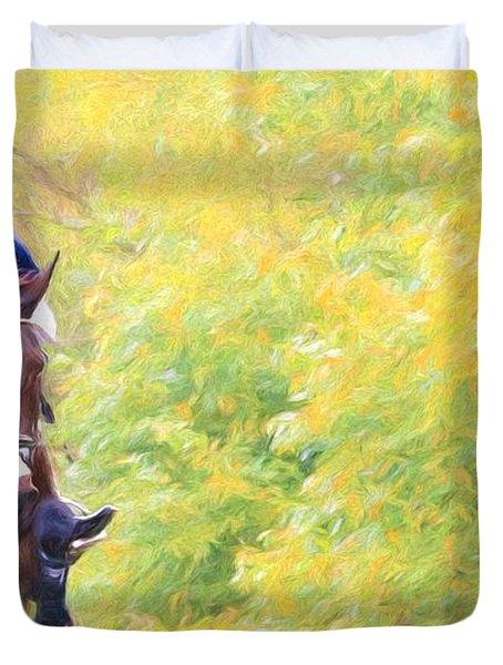 Horsey Green Duvet Cover
