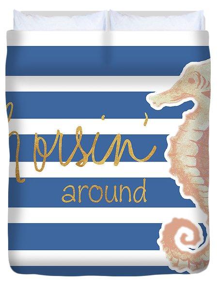 Horsin' Around Duvet Cover
