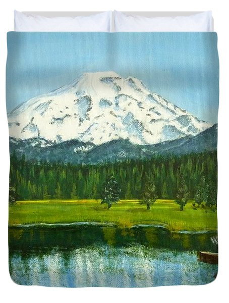 Hosmer Lake Duvet Cover