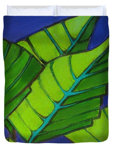 Hosta Blue Tip One Duvet Cover