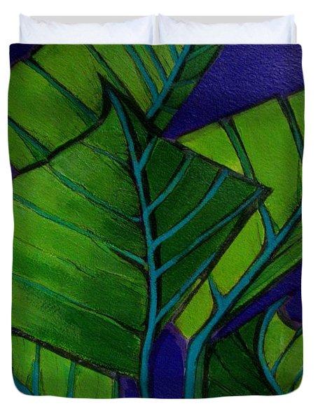 Hosta Blue Tip Two Duvet Cover