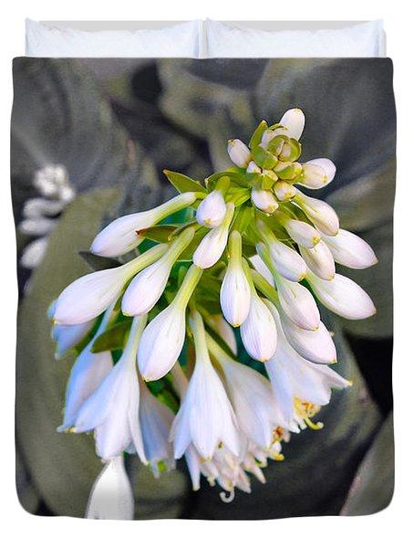 Hosta Ready To Bloom Duvet Cover