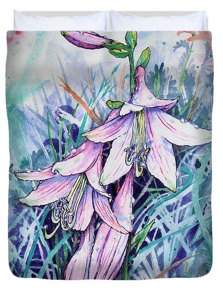 Hosta's In Bloom Duvet Cover
