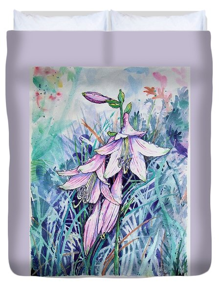 Hosta's In Bloom Duvet Cover