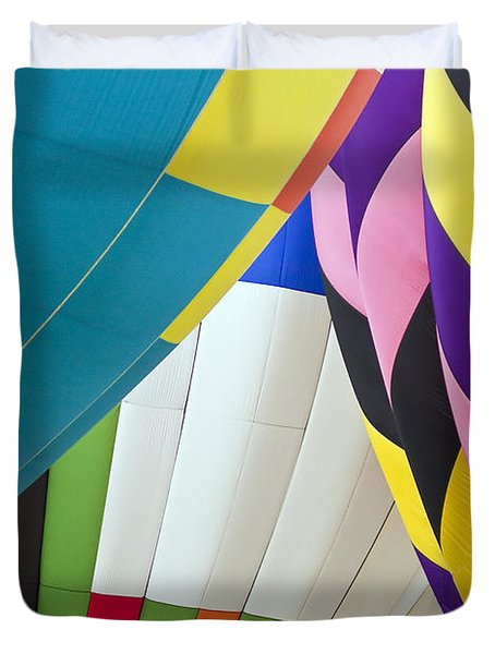 Hot Air Balloon Duvet Cover by Marcia Colelli