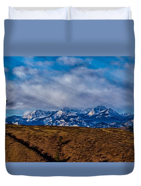 Hot Air Baloon Ride In The Methow Duvet Cover by Omaste Witkowski