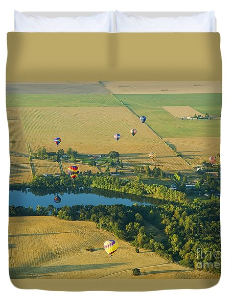 Duvet Cover featuring the photograph Hot Air Reflection by Nick  Boren