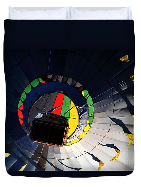 Hot Air Up Duvet Cover by Leon Hollins III