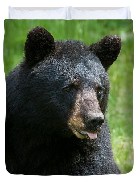 Hot Day In Bear Country Duvet Cover