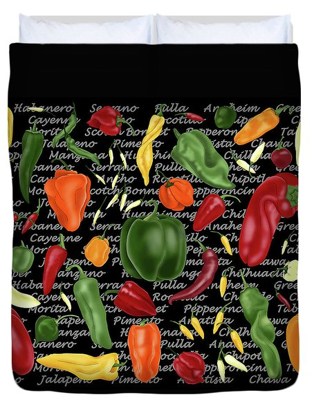 Hot For Chilis Duvet Cover