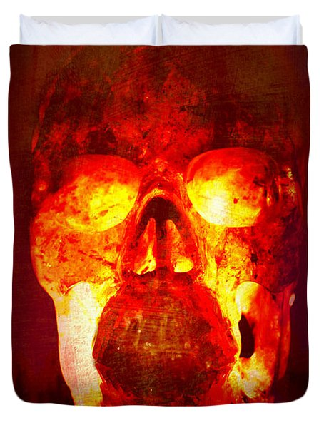 Hot Headed Skull Duvet Cover