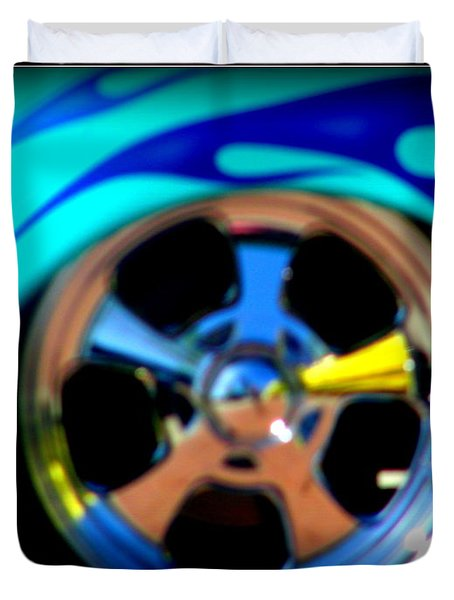 Duvet Cover featuring the photograph Hot Hot Wheels  by Bobbee Rickard