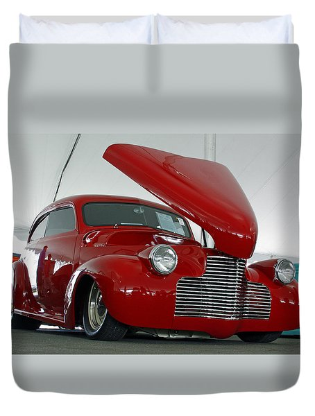 Duvet Cover featuring the photograph Hot In Red by Shoal Hollingsworth