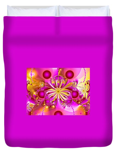 Hot Orchid Duvet Cover