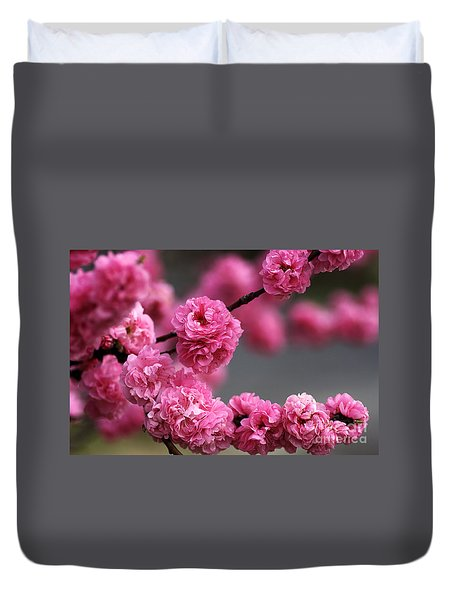 Hot Pink Blossom Duvet Cover by Joy Watson