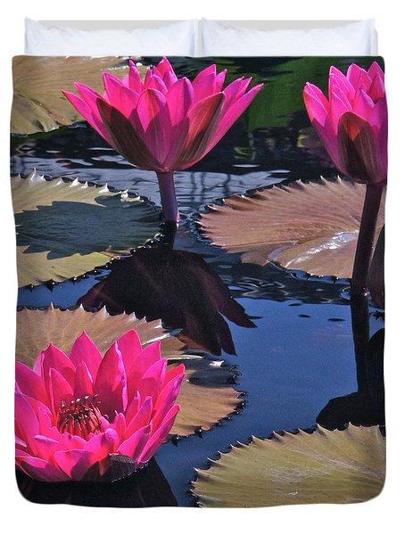 Hot Pink Tropicals Duvet Cover