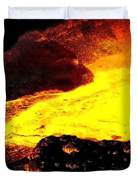 Duvet Cover featuring the photograph Hot Rock And Lava by Pennie  McCracken
