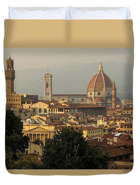 Hot Summer Afternoon In Florence Italy Duvet Cover