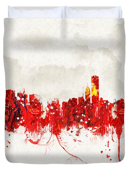 Hot Summer Day In Chicago Duvet Cover by Aged Pixel