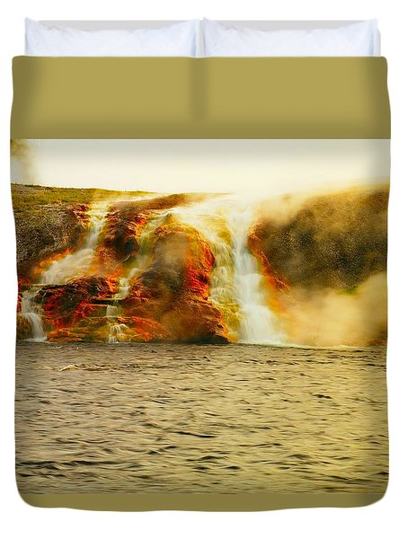 Hot Water Pouring Duvet Cover by Jeff Swan