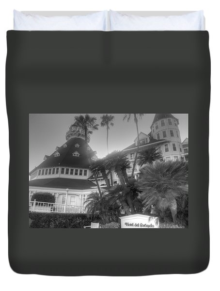 Hotel Del At Sunset Duvet Cover