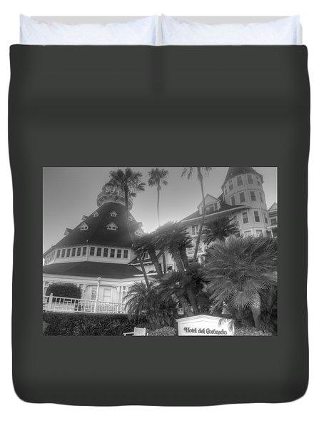 Hotel Del At Sunset Duvet Cover