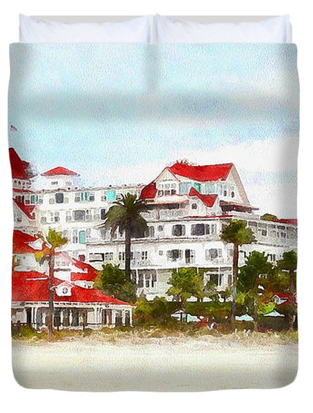 Hotel Del Coronado In Coronado California 5d24312wcstyle Long Duvet Cover