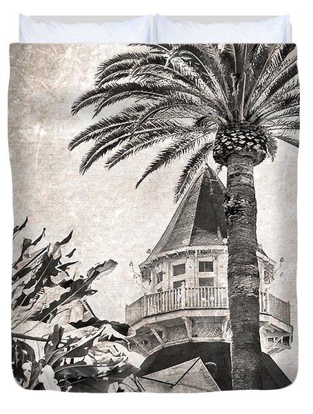 Hotel Del Coronado Duvet Cover by Peggy Hughes