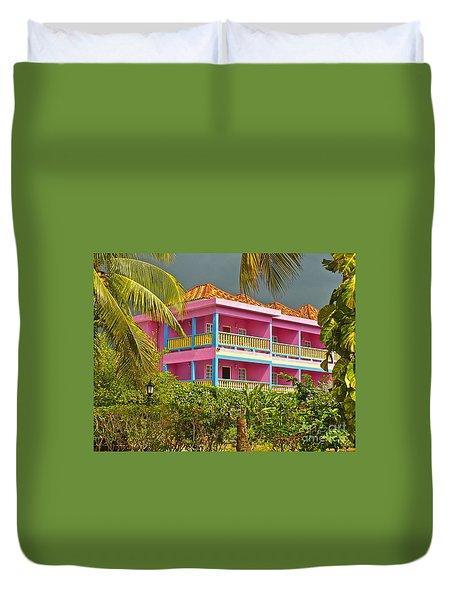 Hotel Jamaica Duvet Cover by Linda Bianic