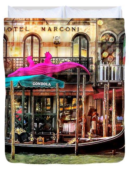 Hotel Marconi.venice. Duvet Cover