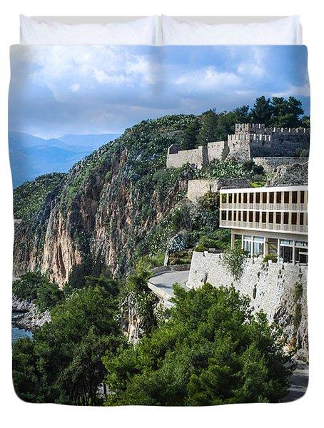 Hotel On Acronafplia Duvet Cover