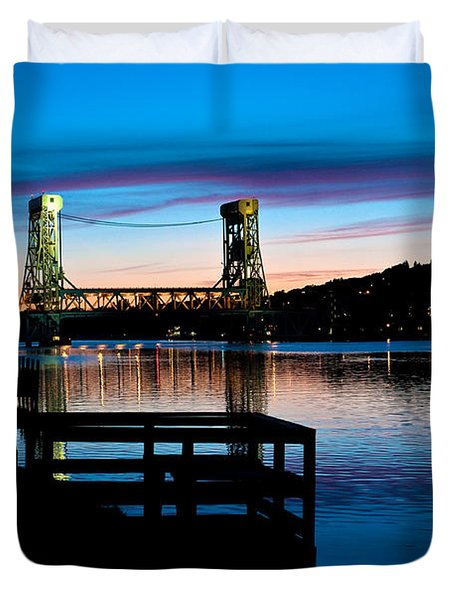 Houghton Bridge Sunset Duvet Cover