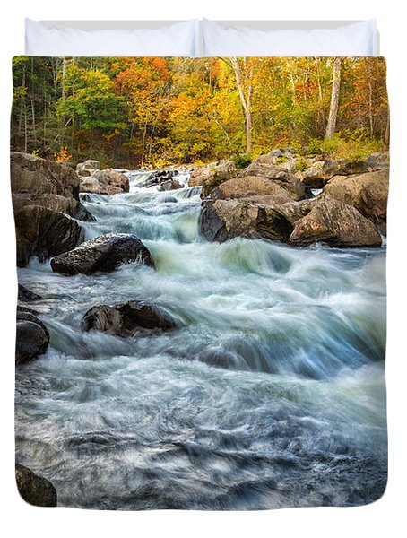 Housatonic River Autumn Duvet Cover by Bill Wakeley