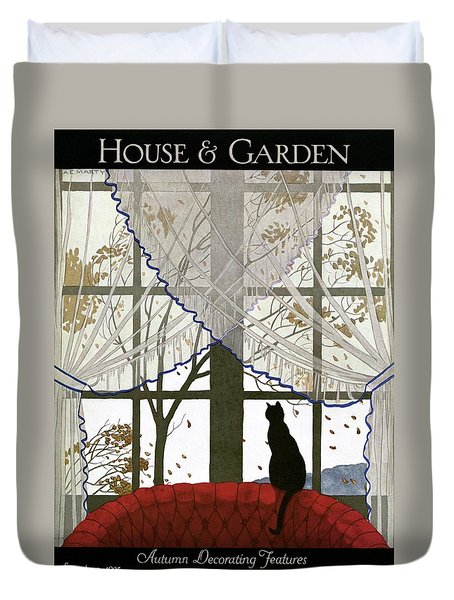 House And Garden Cover Duvet Cover by Andre E.  Marty