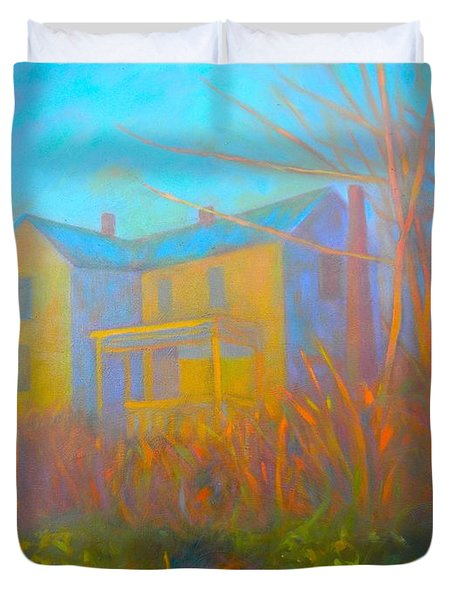 House In Blacksburg Duvet Cover