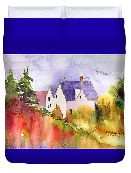 House In The Country Duvet Cover by Yolanda Koh