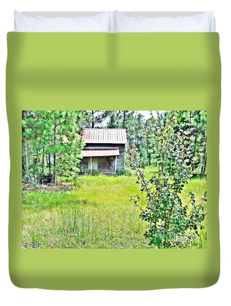 House In The Thicket Duvet Cover by Eloise Schneider