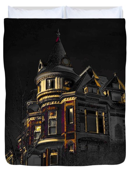 House On The Hill Duvet Cover by Liane Wright