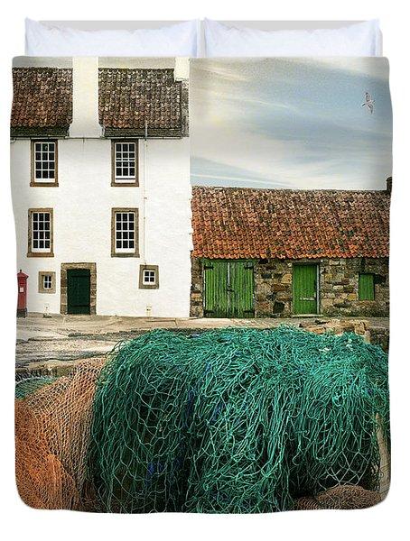 House On The Quay Duvet Cover by Edmund Nagele