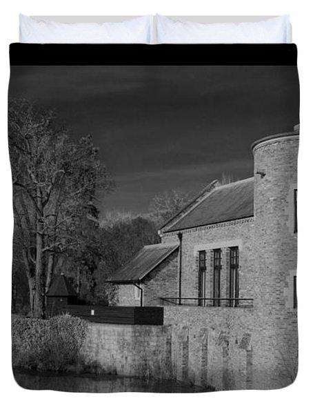 House On The River Duvet Cover by Maj Seda