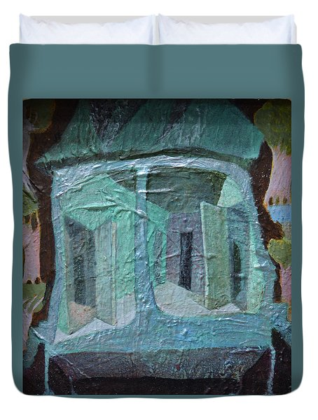House On Wheels Duvet Cover by Nancy Mauerman
