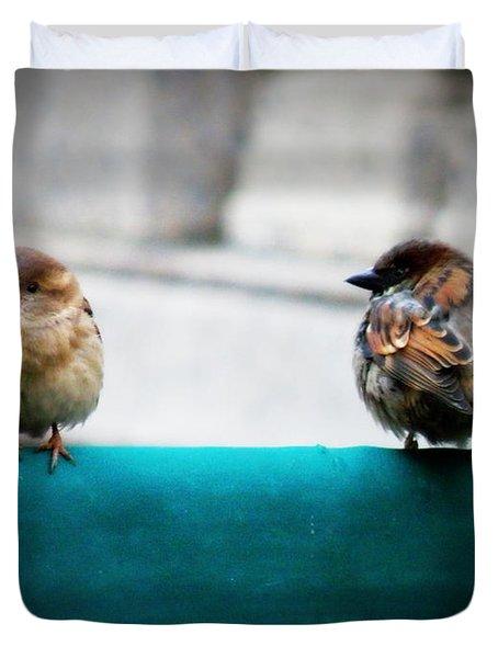 House Sparrows Duvet Cover