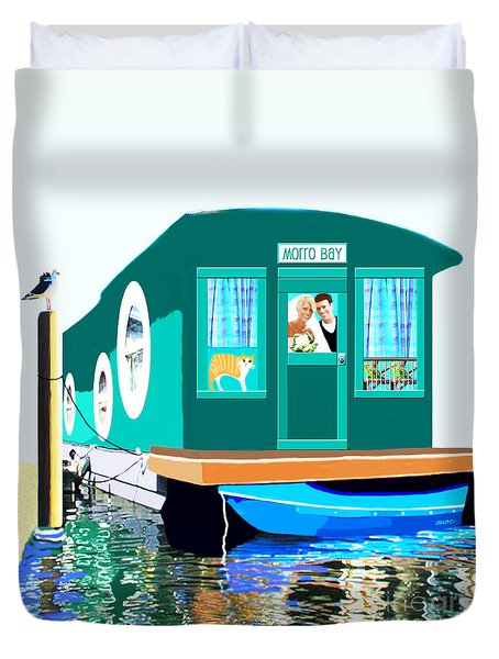 Houseboat Duvet Cover
