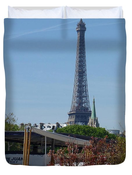 Houseboat On The Seine Duvet Cover