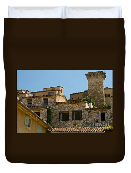 Houses At The Top Of The Hill Duvet Cover by Bob Phillips